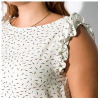 Платье с рюшами 165P302