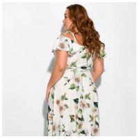 Платье с рюшами 120PVC1067-3