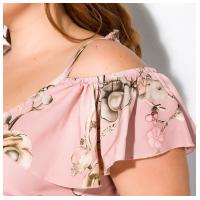 Цветочное макси платье 120PVC1067
