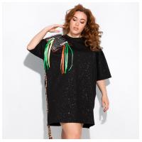 Платье-туника с нашивками 120PRU1970