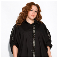 Рубашка-туника с люверсами 120PRU024