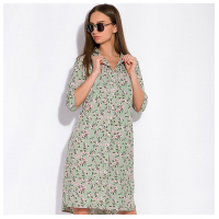 Платье-рубашка с цветочными мотивами 103P482-1