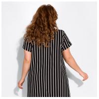 Платье с коротким рукавом в полоску 120PDS8525-2