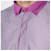 Мужская рубашка с контрастным воротничком 120PAR195-4