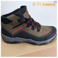 Ботинки кожаные оливковые SALOMON S11a 40-45 (Пара)