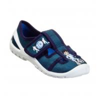 Тапочки текстильные синие SATURN 3Rx5/4 3F 25-30 (Пара)