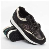 Кроссовки текстильные черные W820a GIPANIS 36-40 (Цена за 1 пару при заказе от упаковки 10 пар)