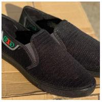 Слипоны текстильные черные сетка M83 DAGO 41-45 (Пара)