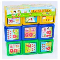 "Кубики ""Математика""  9 шт.   M- toys"