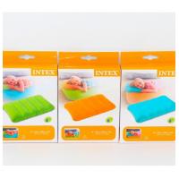 Надувная подушка велюр цветная   INTEX