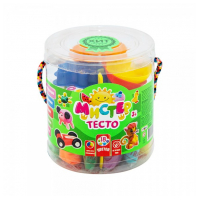 Тесто для лепки 18 цветов банках   STRATEG