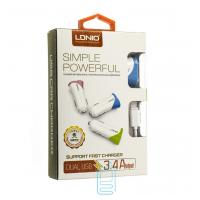 Автомобильное зарядное устройство LDNIO C332 2USB 3.4A Lightning white