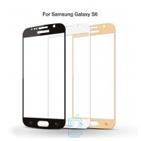 Защитное стекло Full Screen Samsung S6 G920 white тех.пакет