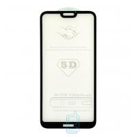 Защитное стекло 5D Huawei P20 Lite black тех.пакет