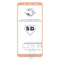 Защитное стекло 5D Samsung J8 2018 J810 gold тех.пакет