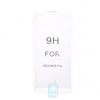 Защитное стекло 5D Xiaomi Redmi 6 Pro, Mi A2 Lite white тех.пакет