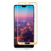 Защитное стекло Full Screen Huawei P20 Pro gold тех. пакет