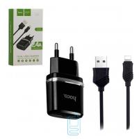 Сетевое зарядное устройство HOCO C12 Smart 2USB 2.4A Lightning black