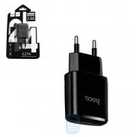 Сетевое зарядное устройство HOCO С27A 1USB 2.4A black