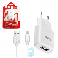 Сетевое зарядное устройство HOCO С27A 1USB 2.4A micro-USB white