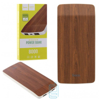 Power Bank Hoco J5 Wooden 8000 mAh Original Red Oak
