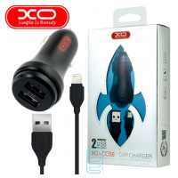 Автомобильное зарядное устройство XO CC08 2USB 2.4A lightning black