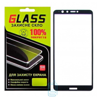 Защитное стекло Full Glue Huawei Y9 2018, Enjoy 8 Plus black Glass