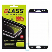 Защитное стекло Full Glue Samsung J7 2017 J730 black Glass