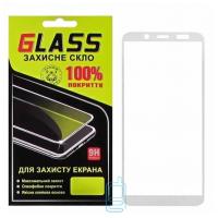 Защитное стекло Full Glue Samsung A6 2018 A600 white Glass