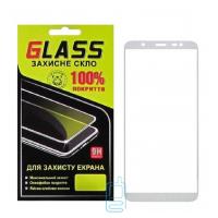 Защитное стекло Full Glue Samsung J8 2018 J810 white Glass
