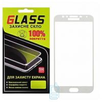 Защитное стекло Full Glue Samsung J4 2018 J400 white Glass