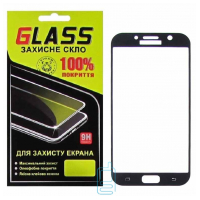 Защитное стекло Full Glue Samsung A7 2017 A720 black Glass