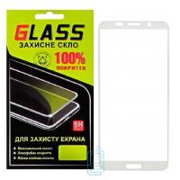 Защитное стекло Full Glue Huawei Y5 2018, Y5 Prime 2018, Y5 Lite 2018 white Glass
