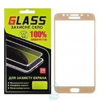 Защитное стекло Full Glue Samsung J4 2018 J400 gold Glass