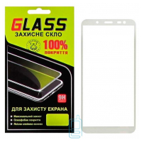 Защитное стекло Full Glue Samsung J6 2018 J600 white Glass