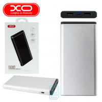 Power Bank XO PB40 10000 mAh серебристый
