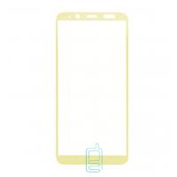 Защитное стекло 5D Samsung A6 2018 A600, J6 2018 J600 gold тех.пакет