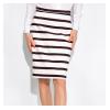 Классическая юбка в полоску 120PSE012-1