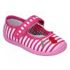 Тапочки текстильные розовые в полосочку Даринка06 TOBI 25-30 (Пара)
