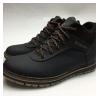 Ботинки кожаные черно-коричневые I104 40-45 (Пара)