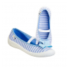 Балетки текстильные синие в полосочку PRIMA 4BT1/5 3F 30-35 (Пара)