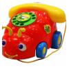 Каталка жучок-телефончик на веревочке