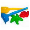 Песочный набор - лопата, грабли, пасочки   MAX GROUP