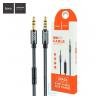 AUX кабель 3.5mm Hoco UPA04 с микрофоном 1 метр серый