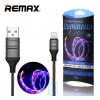 USB кабель Remax RC-130i Luminous Lightning черный