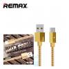 USB кабель Remax RC-110a Gefon Type-C 1m золотистый