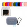 Чехол силиконовый для Apple AirPods Pro с карабином фиолетовый